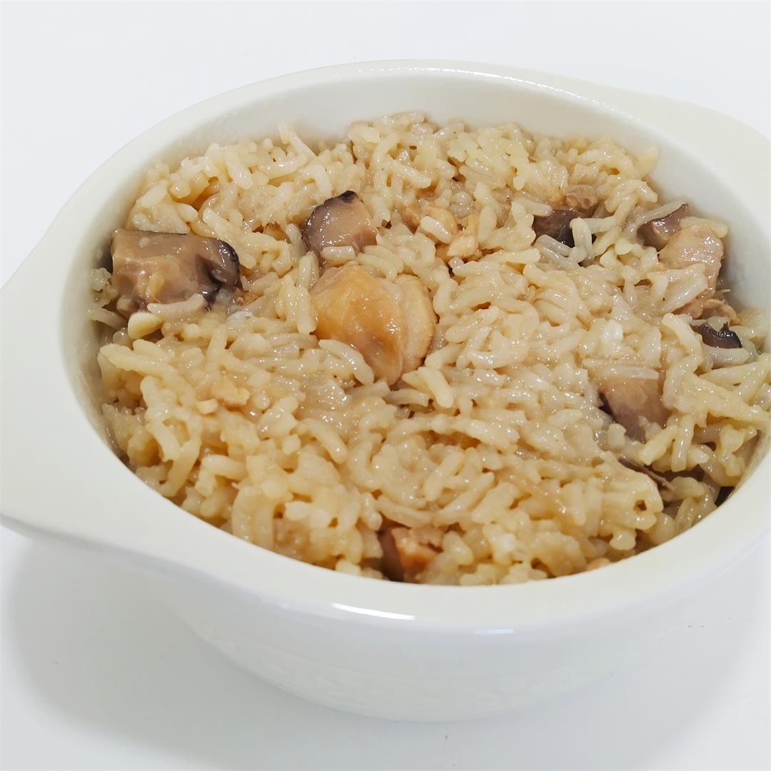 Claypot chicken rice (Pressure cooker method)