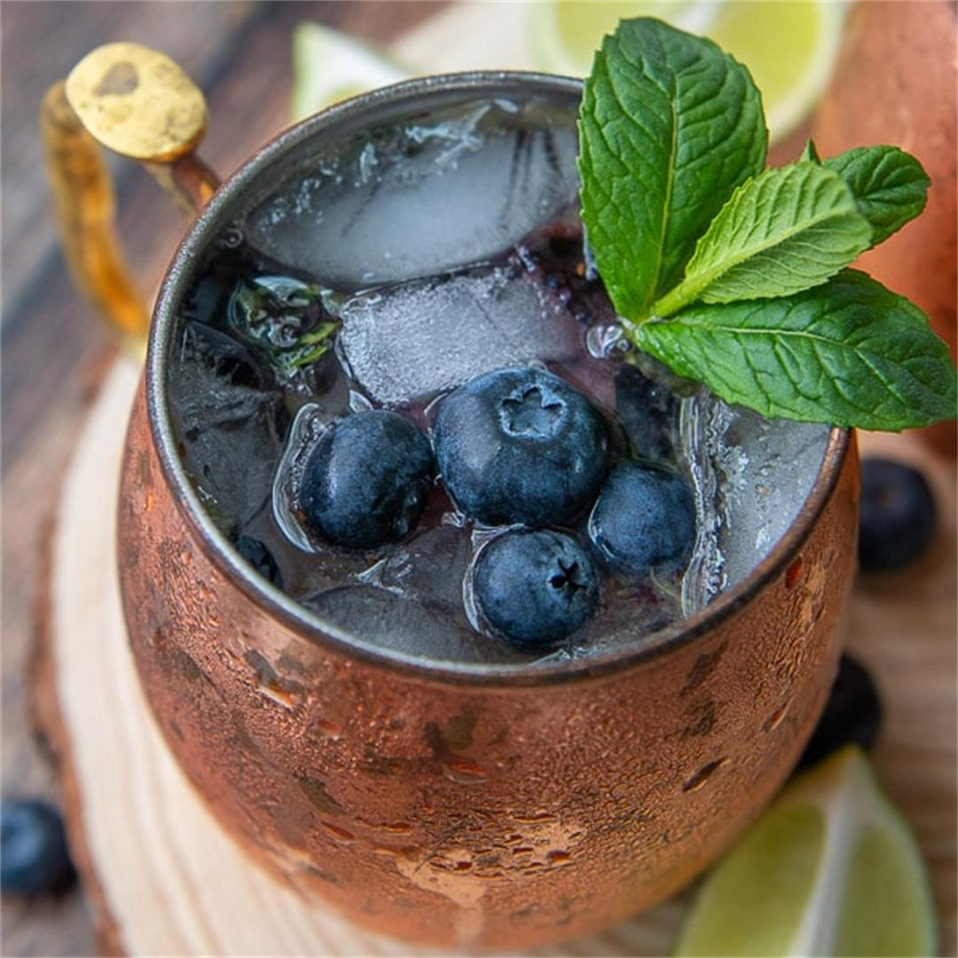 Blueberry Moscow Mule Cocktail