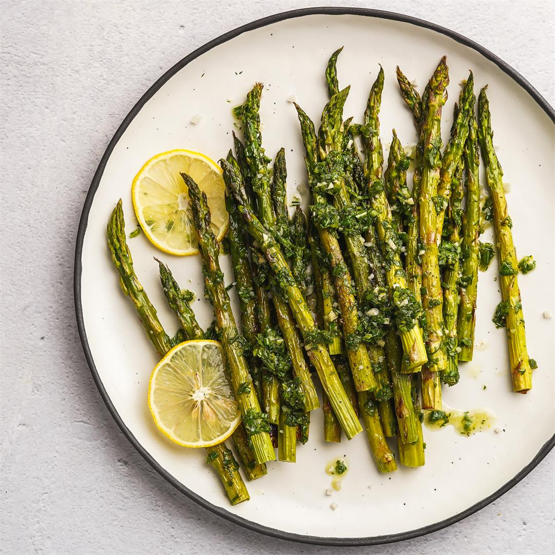 Lemon Herb Roasted Asparagus