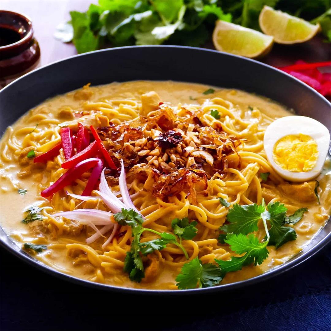 Easy Instant Pot Khow Suey (Burmese Noodles)