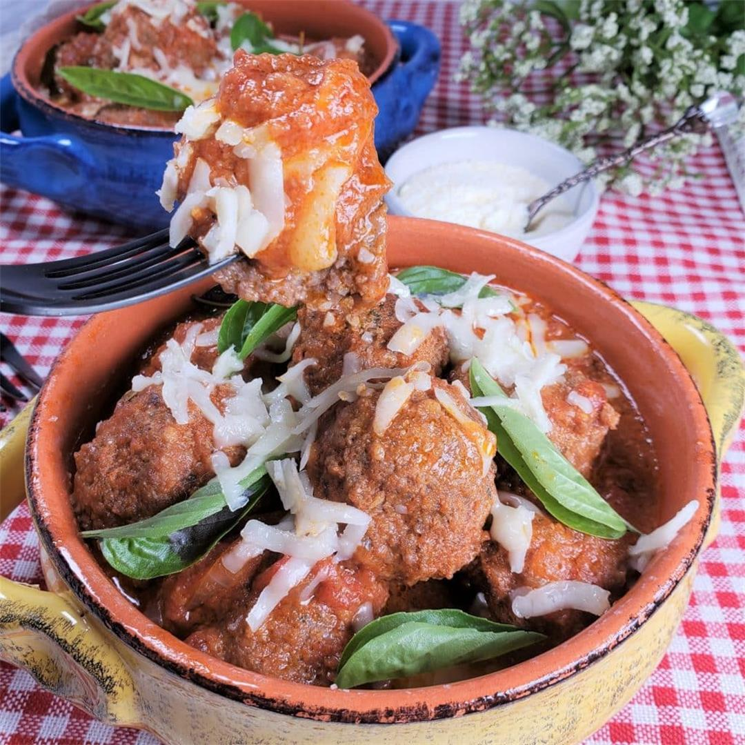Instant Pot Low Carb Margherita Pizza Meatballs