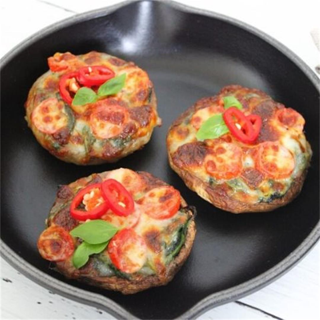 Spinach and Mozzarella Stuffed Mushrooms