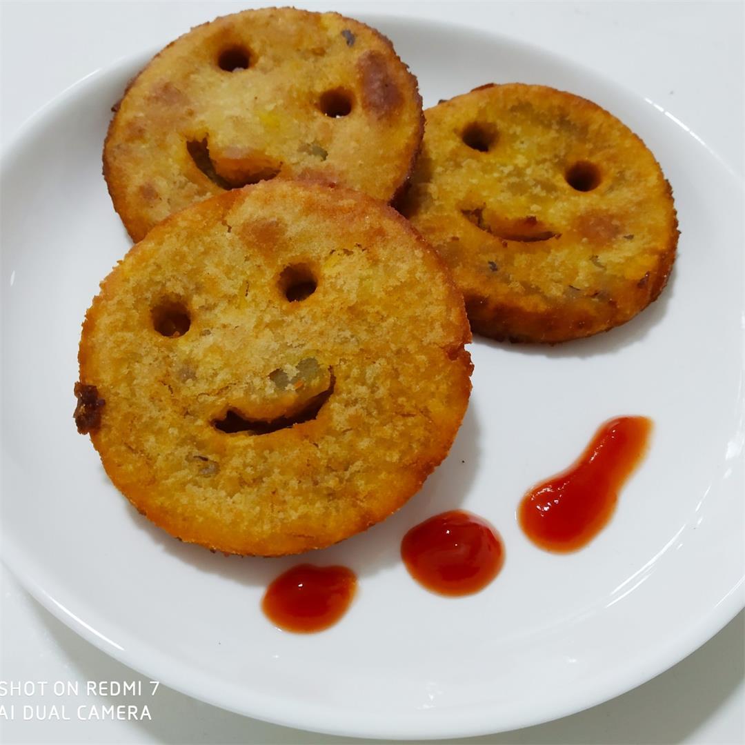 Sweet potato smiley