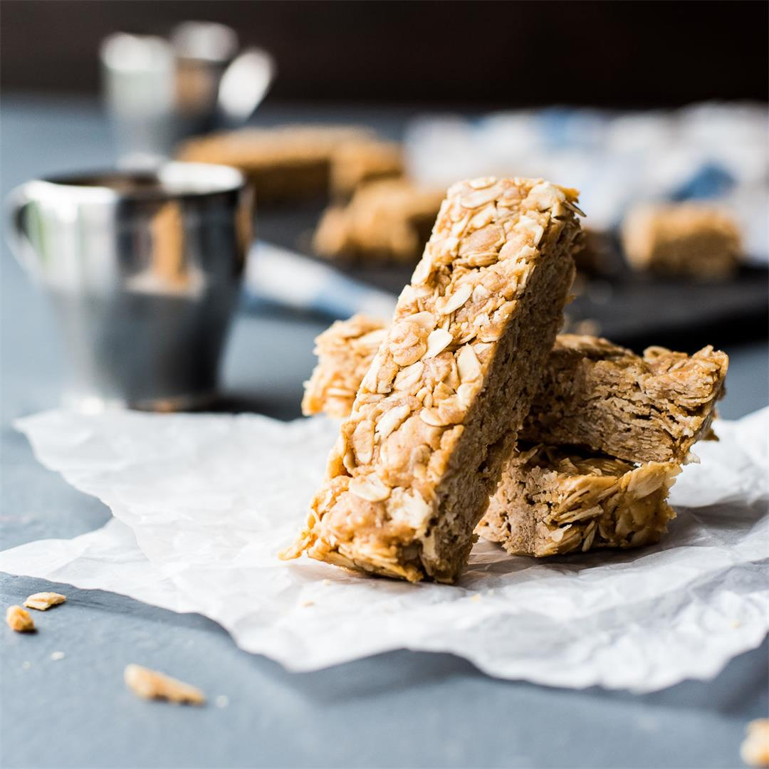 No Bake Peanut Butter Honey Oat Bars