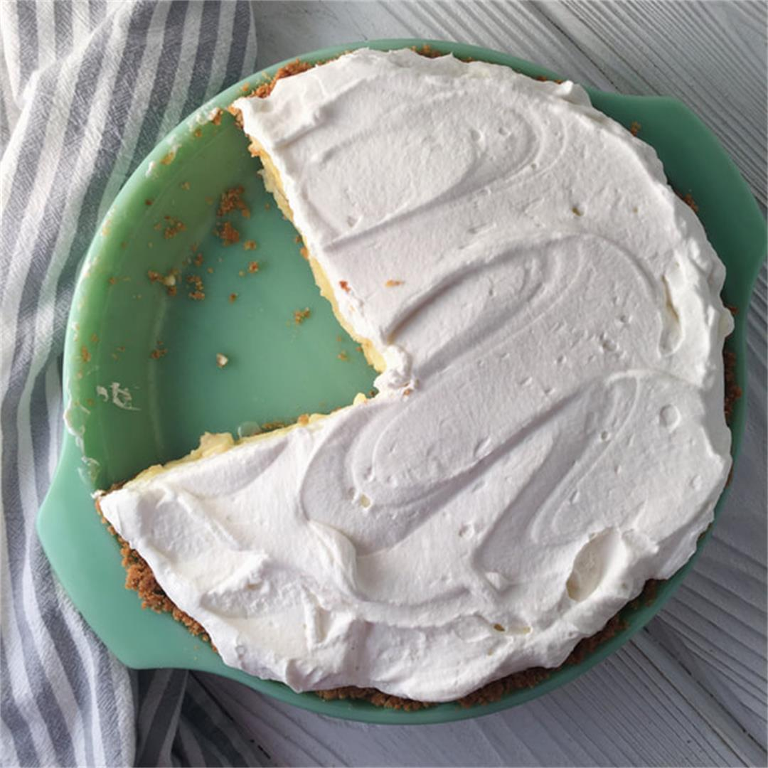 Banana Cream Pie with a Vanilla Wafer Crust