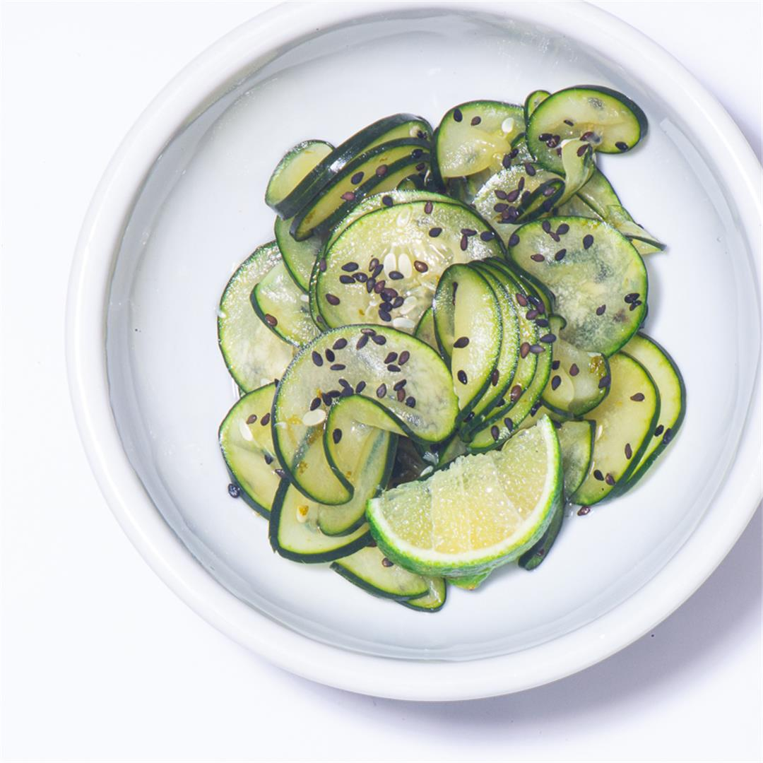 Cucumbers in Sweet Lime Vinegar
