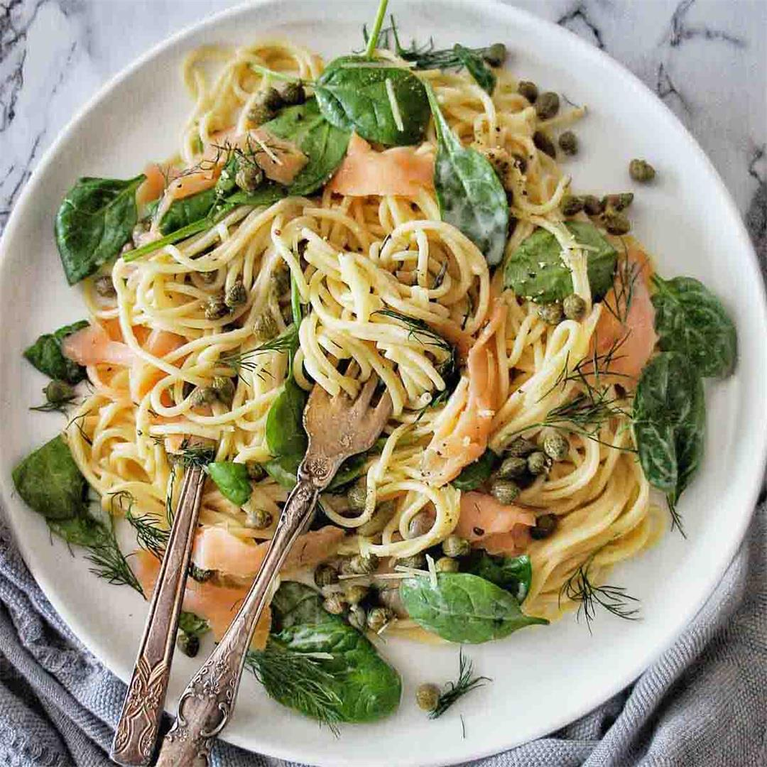 Smoked Salmon Spaghetti(can be gluten free)