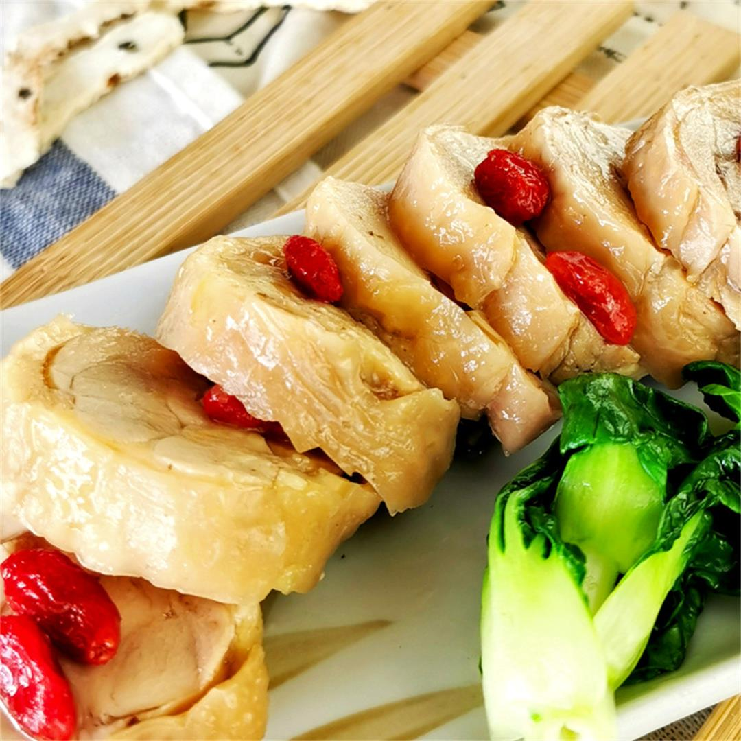 Drunken chicken rolls