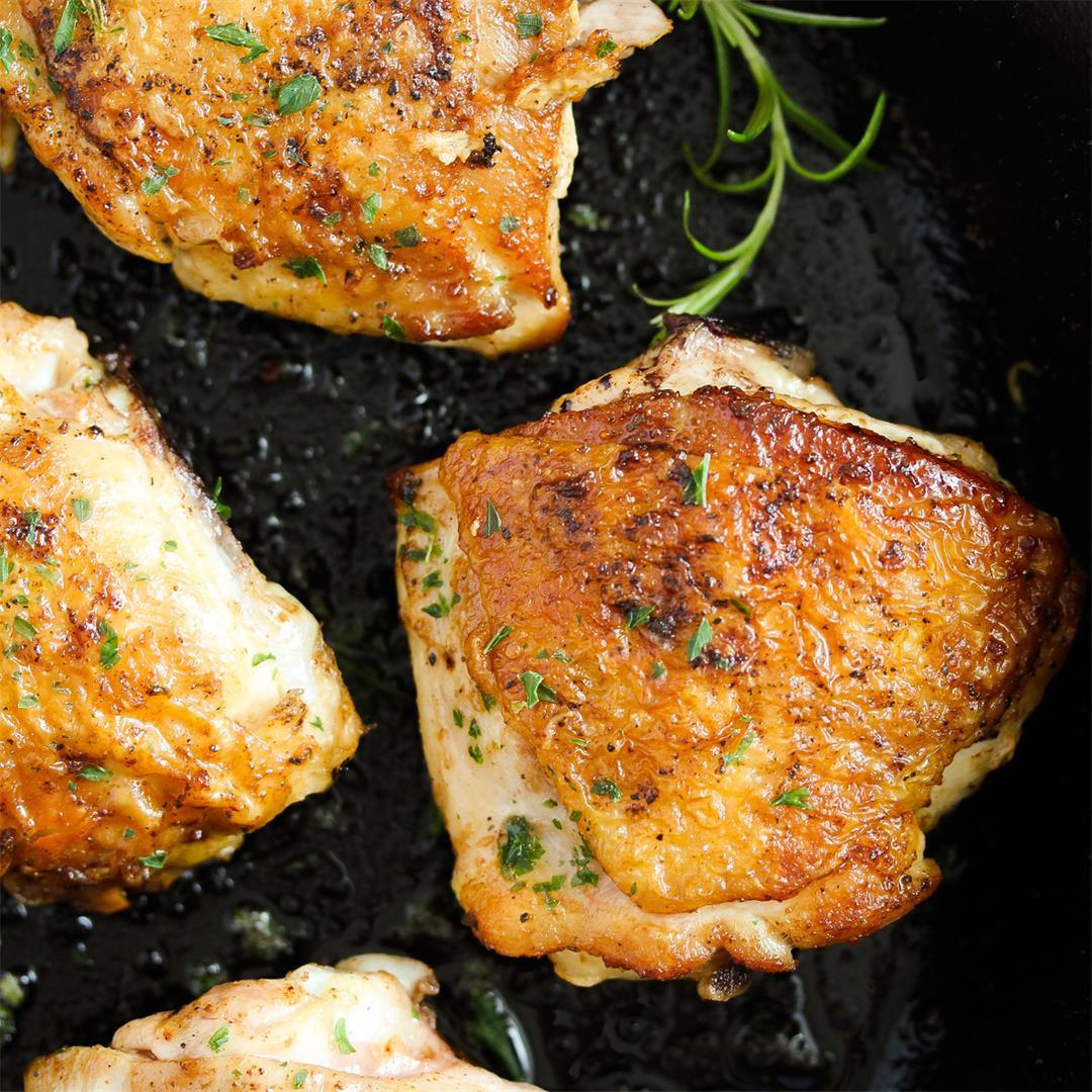 Cast-Iron Skillet Chicken (Stove Top Chicken Thighs)