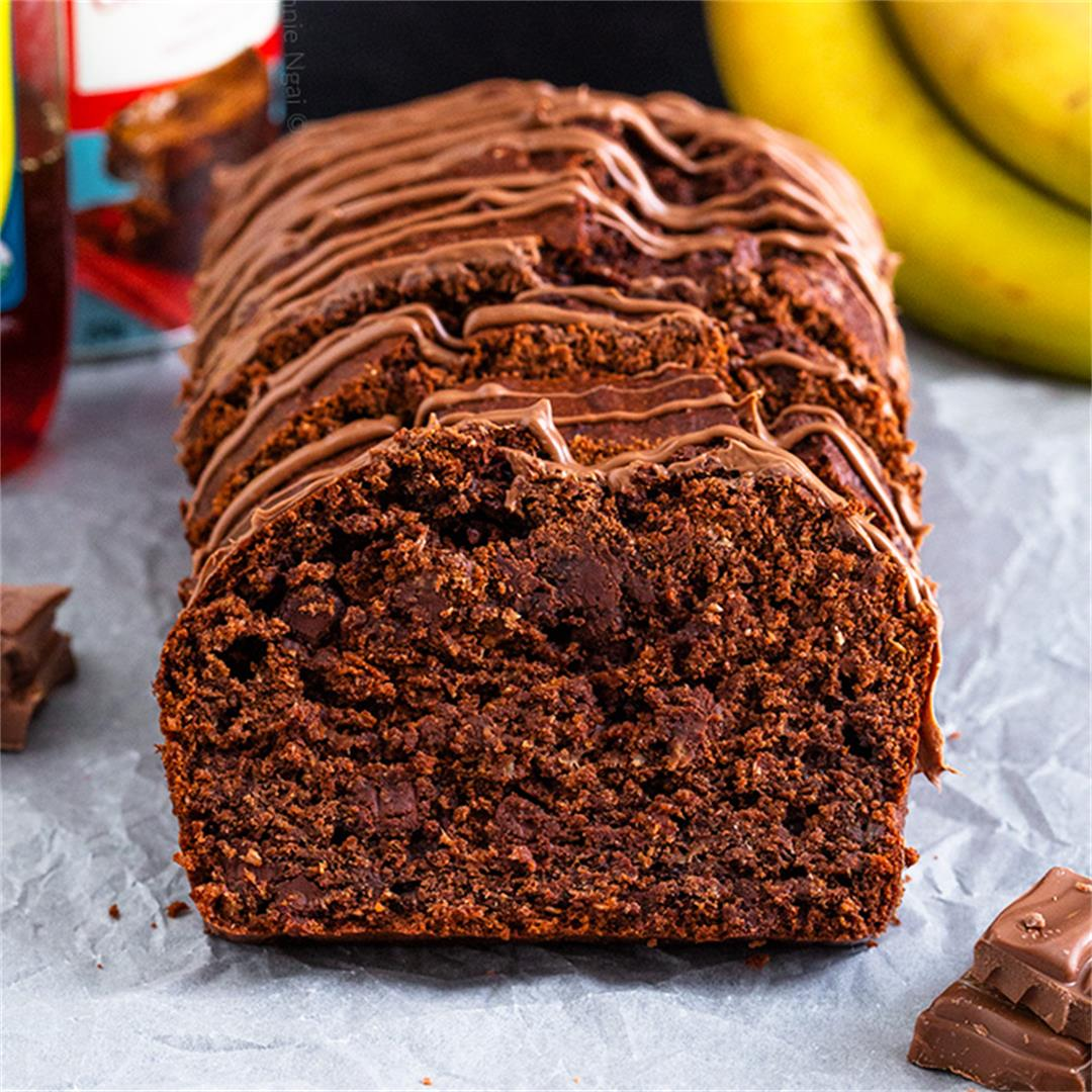 Healthier Chocolate Banana Bread