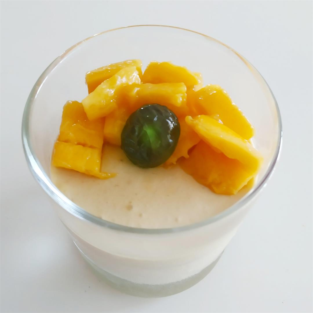 4 ingredients Mango mousse