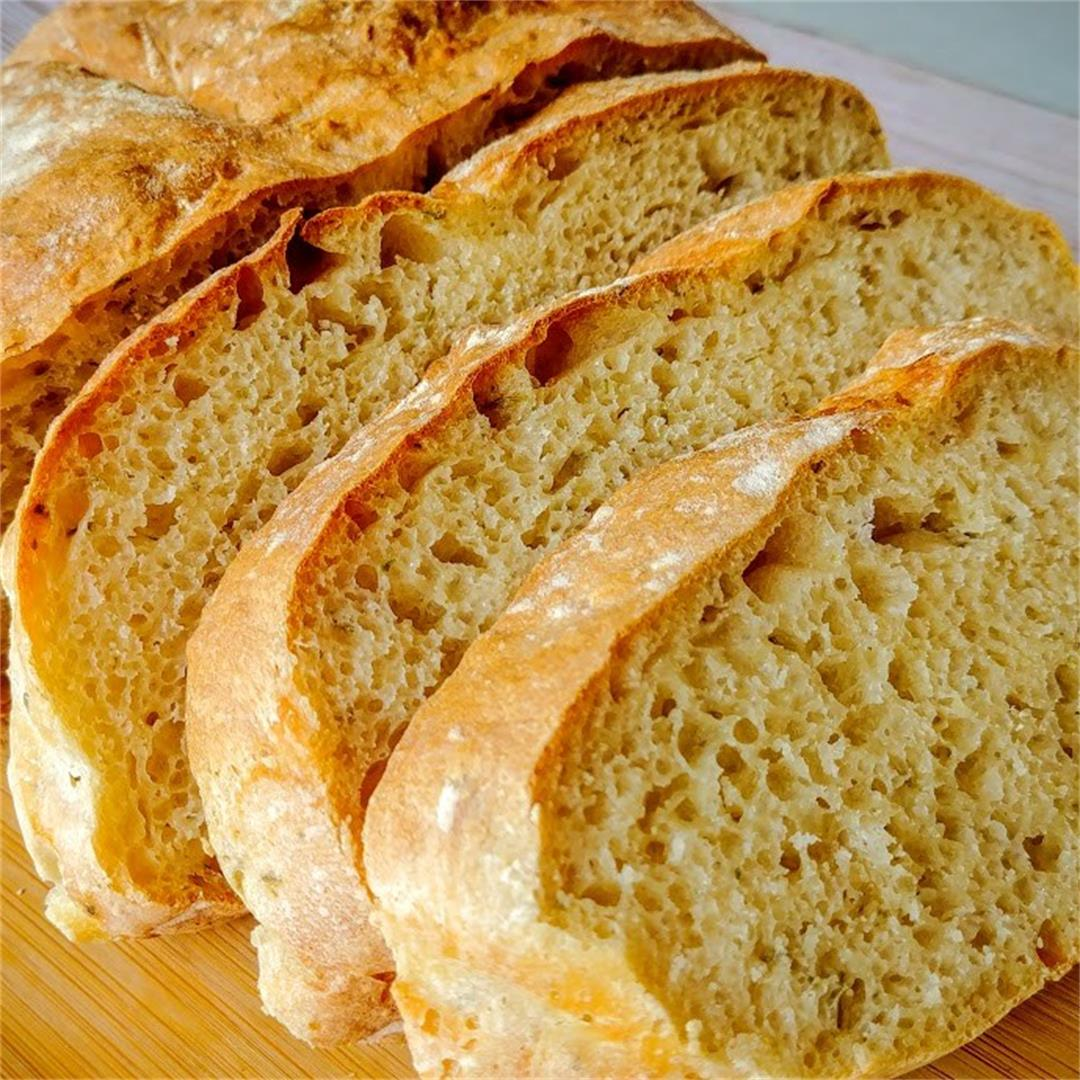 Garlic and Herbs Artisan Bread