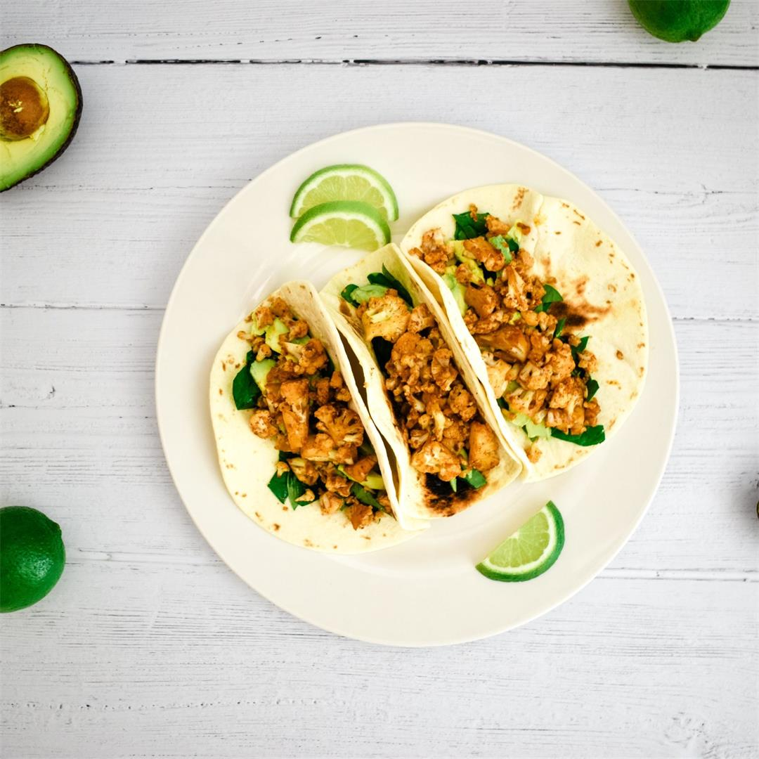 Cauliflower Tacos (Vegan)