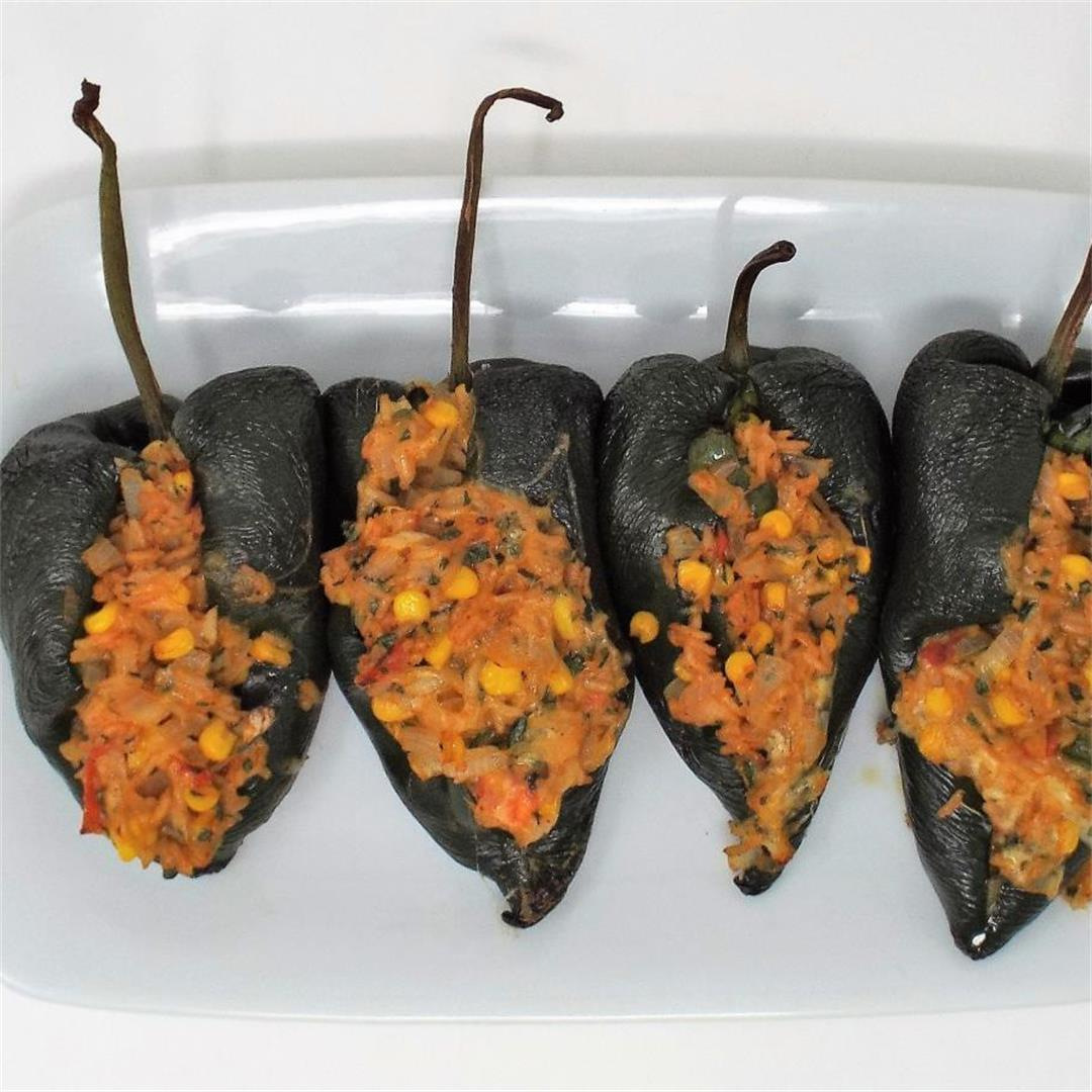 Tex-Mex Stuffed Poblano Peppers