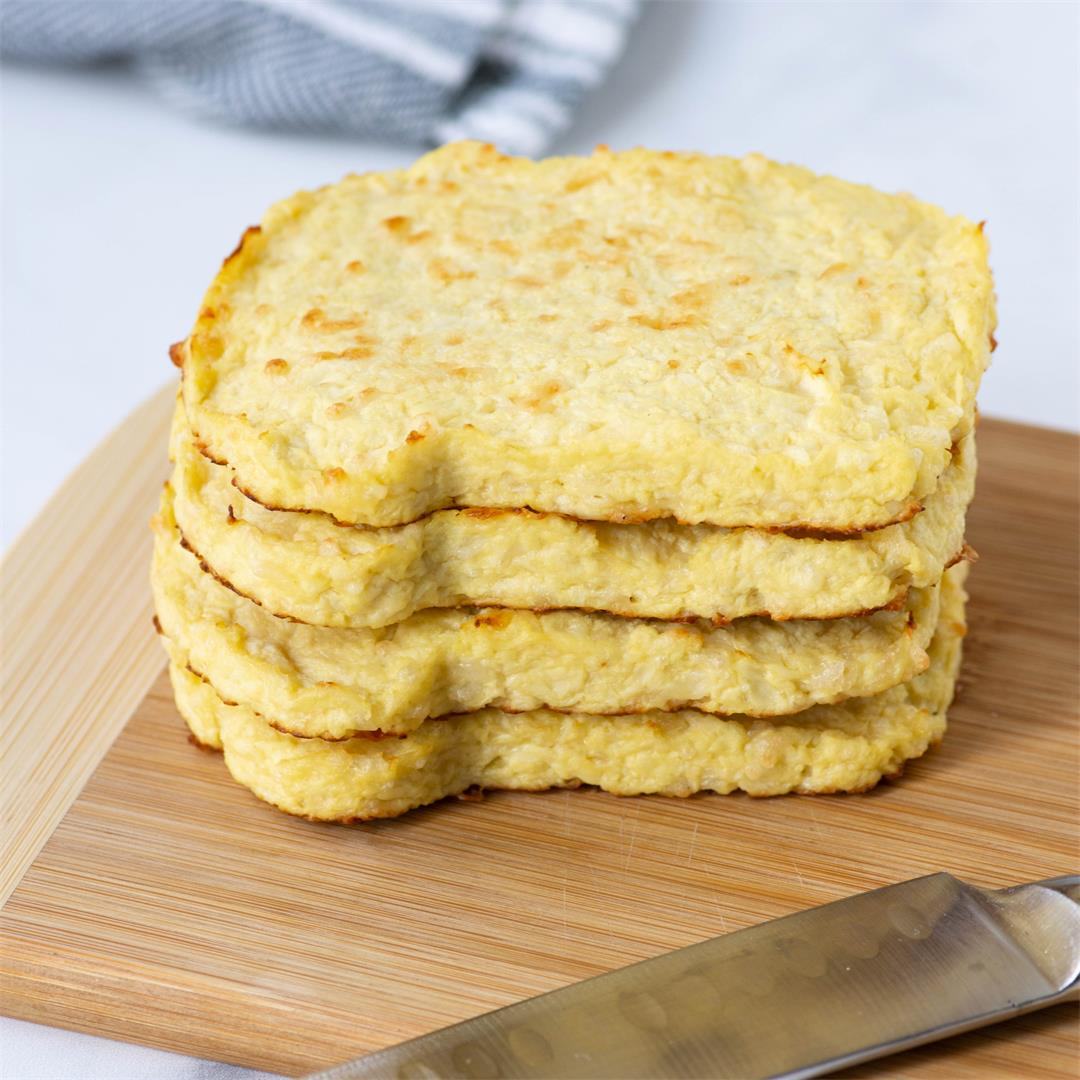3 Ingredient Cauliflower Bread