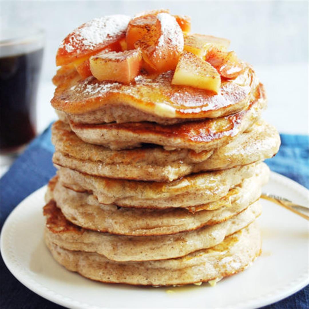 Apple Cinnamon Protein Pancakes- Amee's Savory Dish