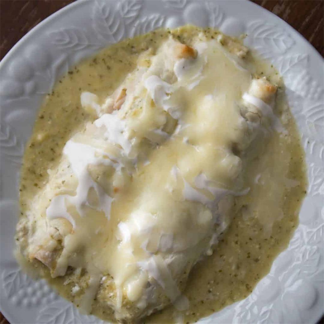 Pressure Cooker Chicken Enchiladas Suizas