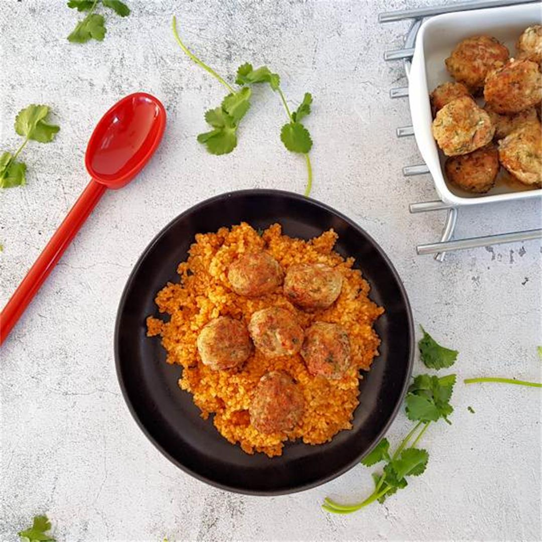 meatballs with tomato bulgur