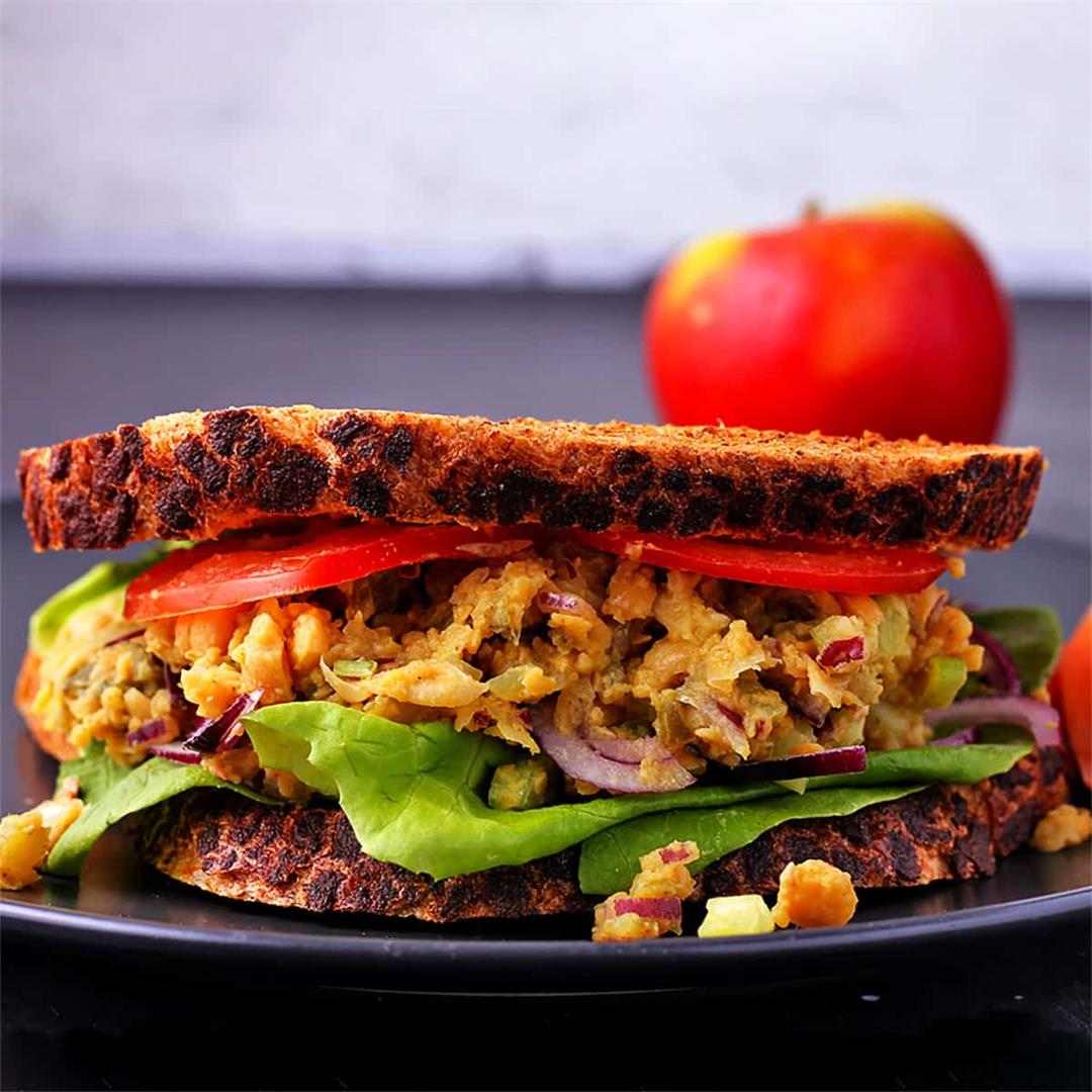 Our favorite chickpea salad sandwich (plant-based)