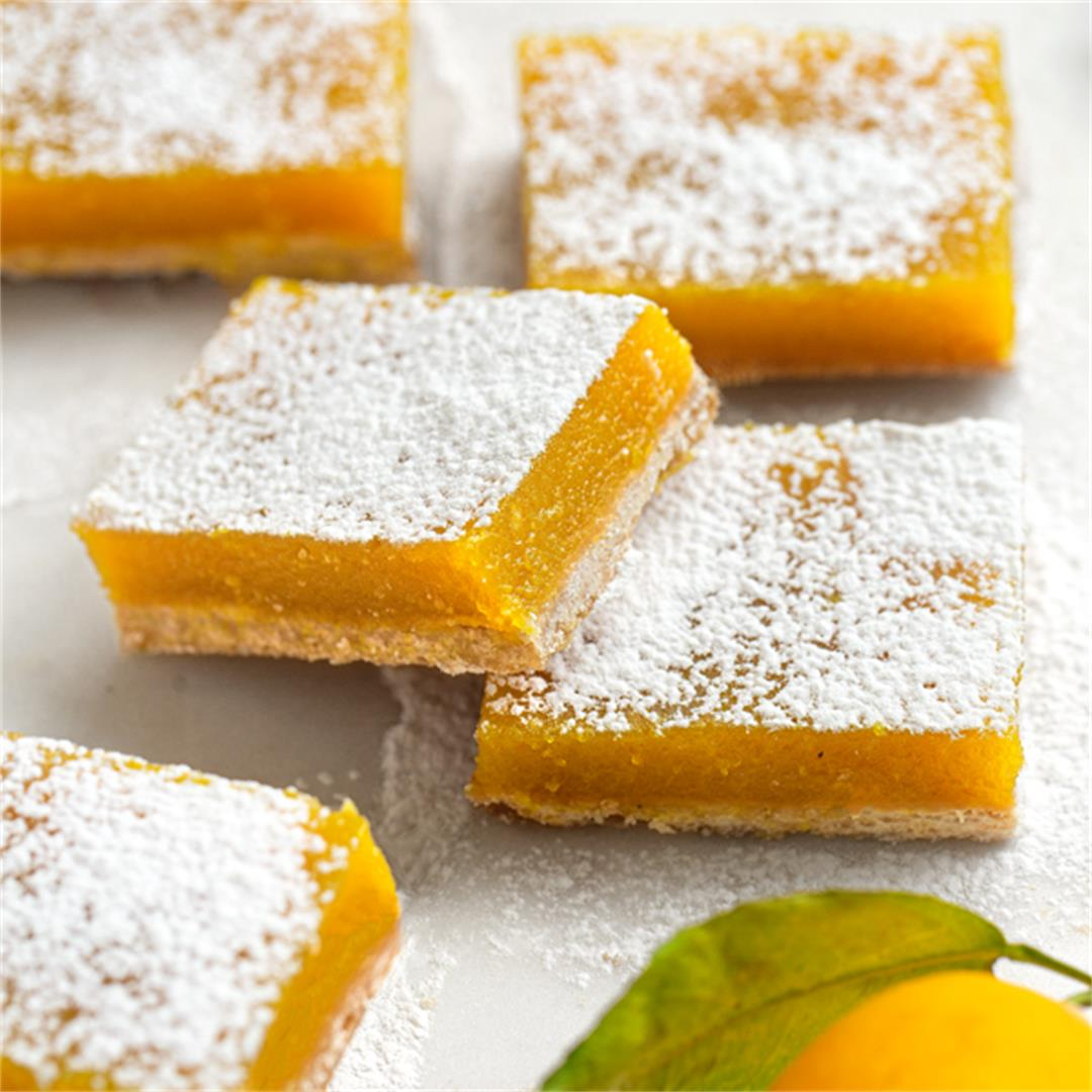 Classic Lemon Bars, Made Vegan