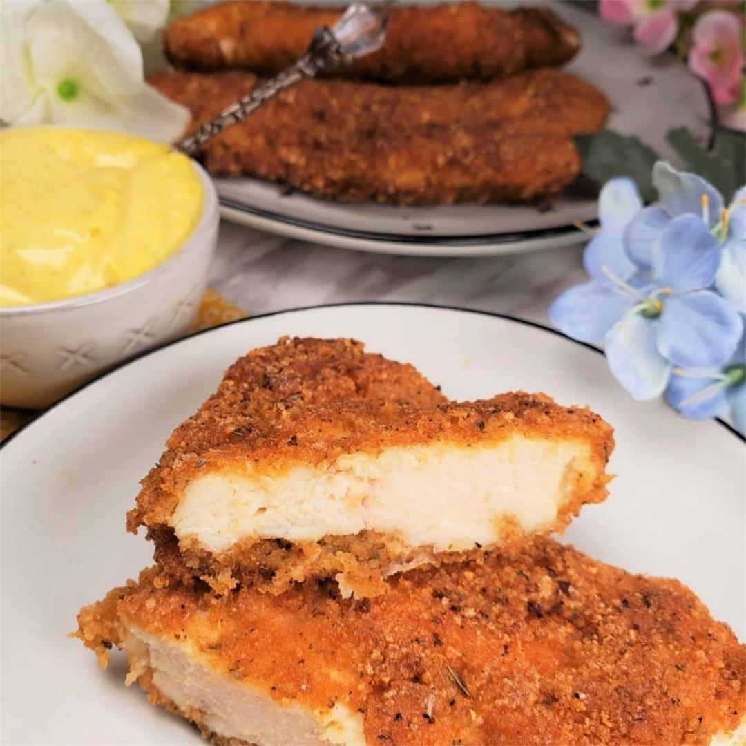 Keto/Low Carb Chicken Schnitzel {Chicken Cutlets}