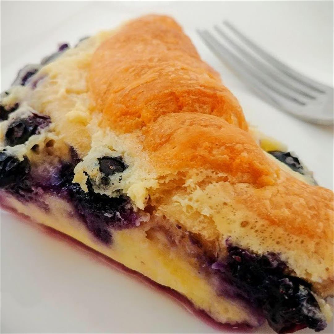 Blueberry Cream Cheese Croissant Bake