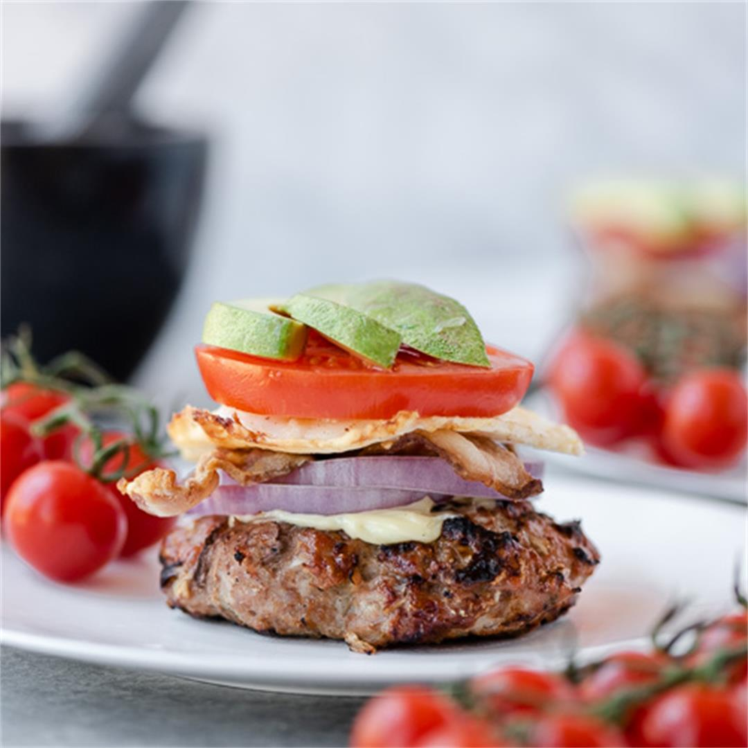 Low Carb Chicken Cobb Burgers
