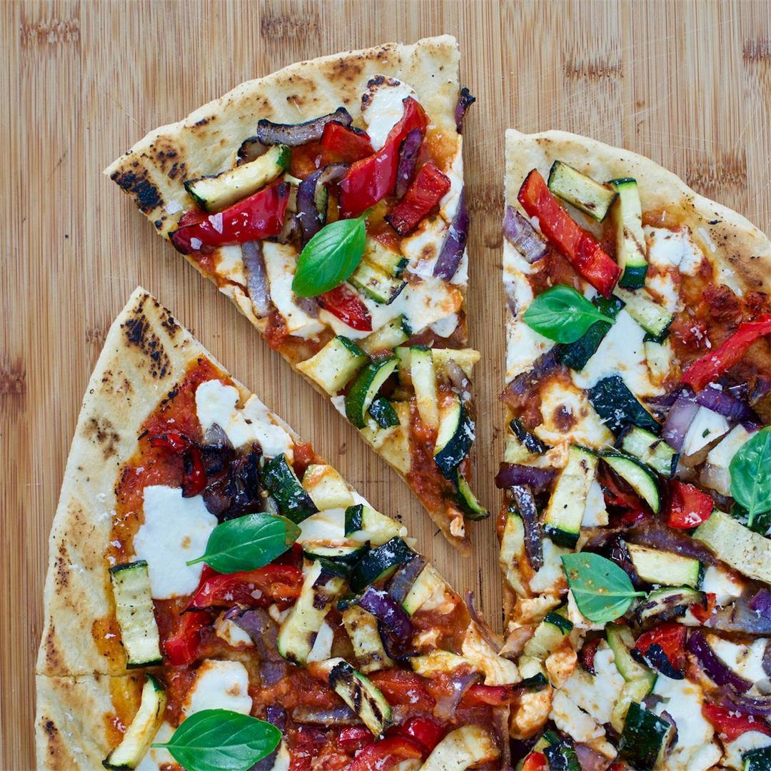 Grilled Veggie Pizza with Calabrian Chili Oil