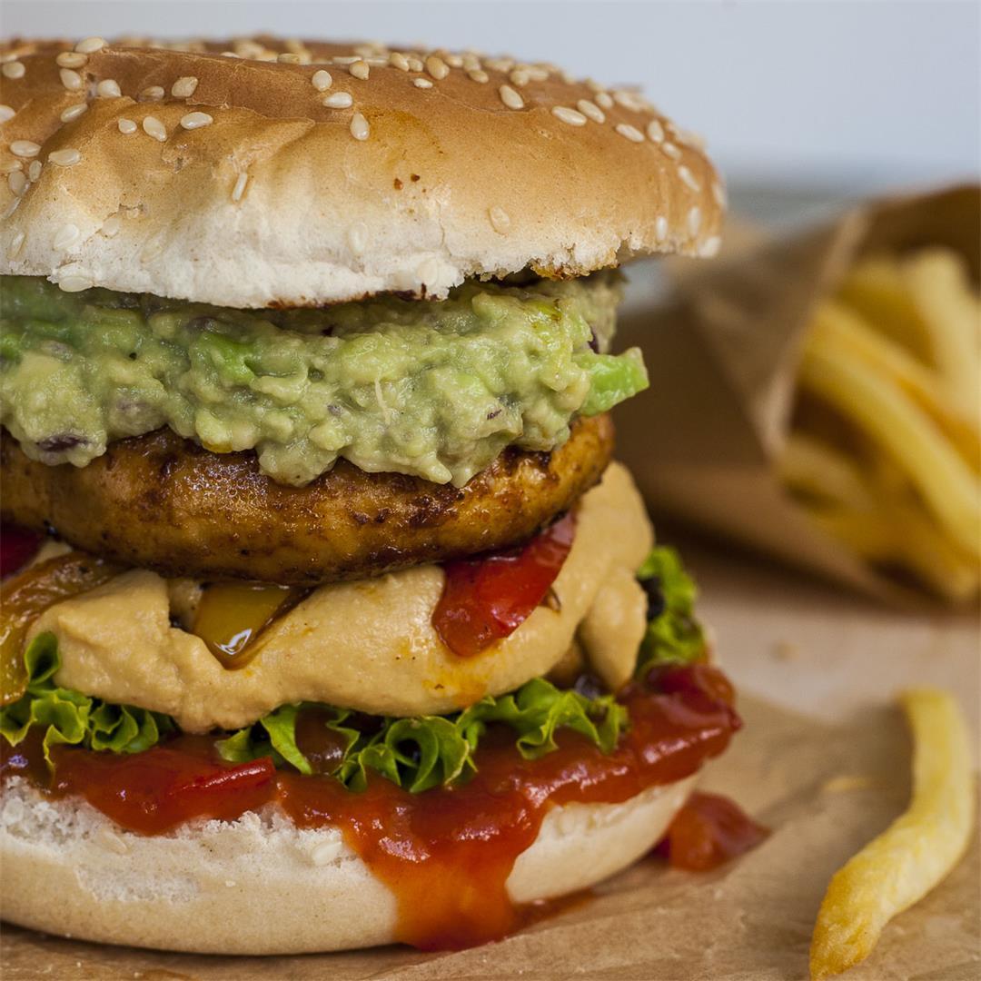 Epic Fajitas Portobello Mushroom Burger