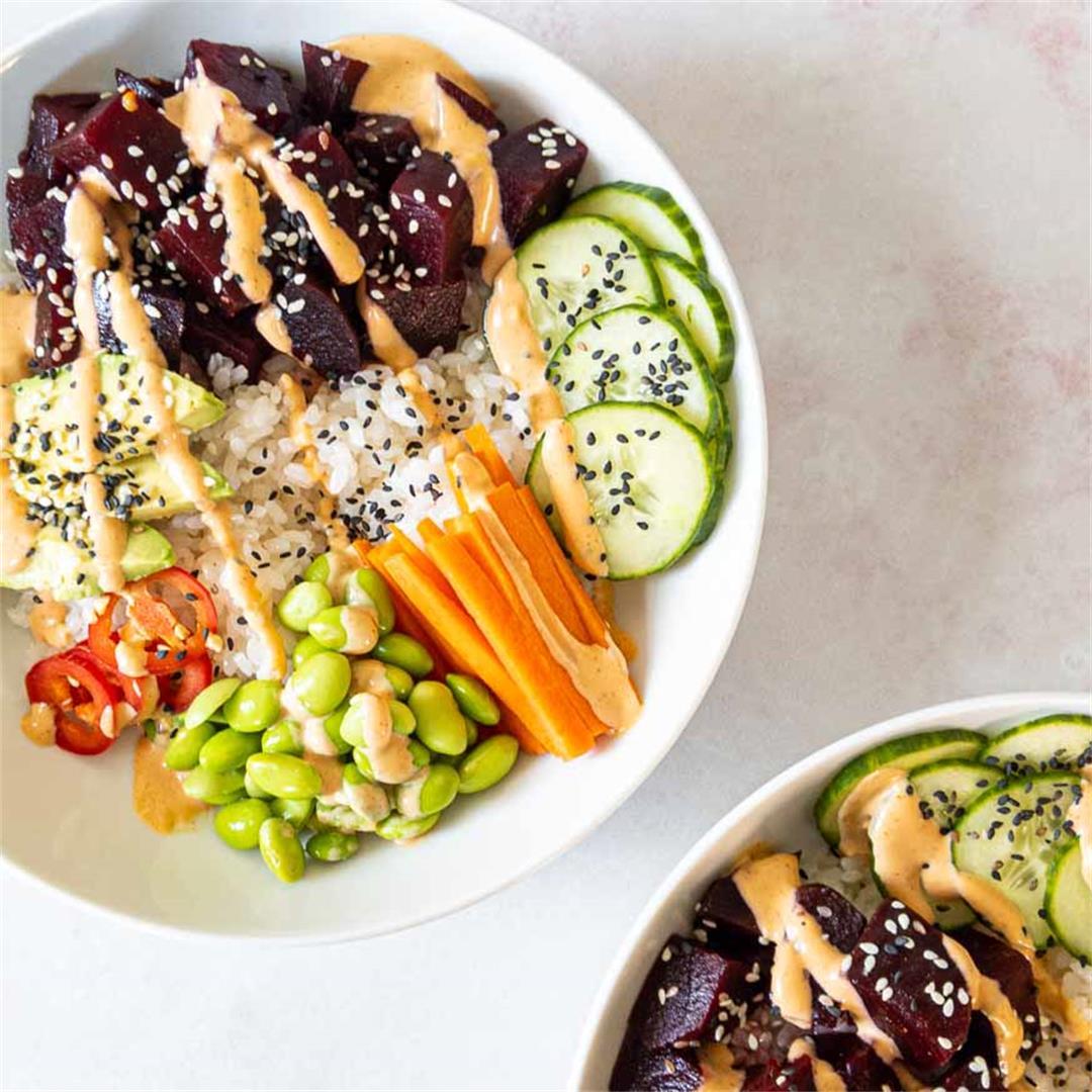 Vegan Poke Bowl with Beets