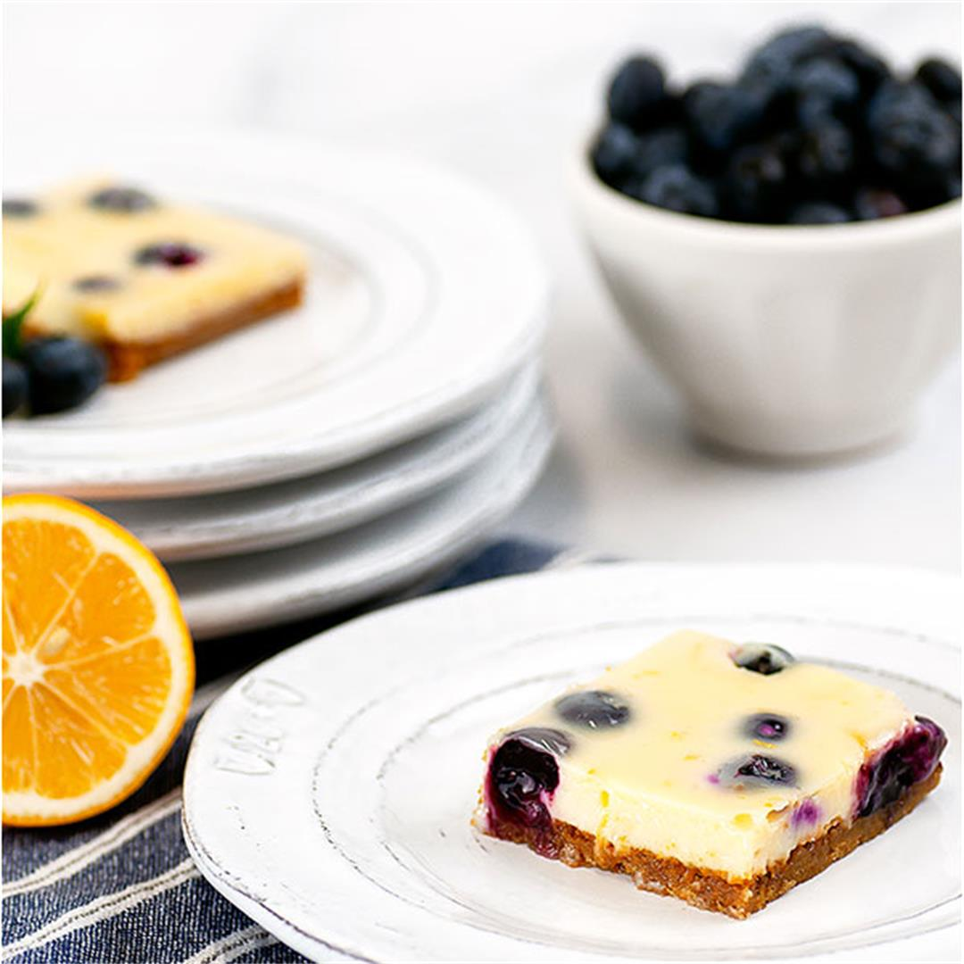 Lemon Blueberry Bars (The Best Fresh Blueberry Treat) - Key To