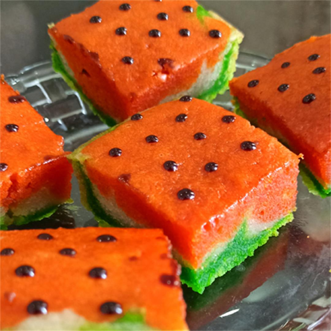 Watermelon Cake Bites