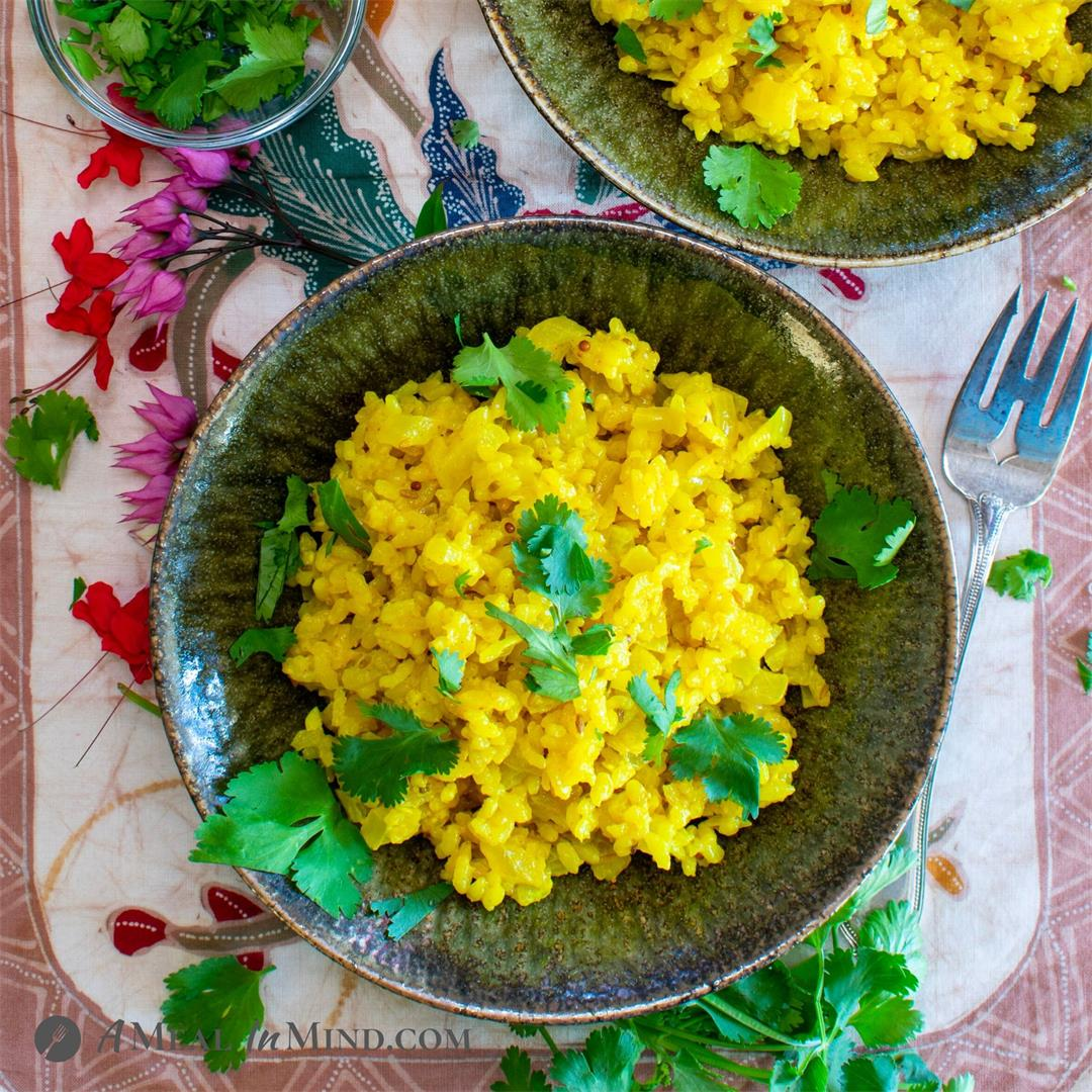 Coconut Turmeric Rice