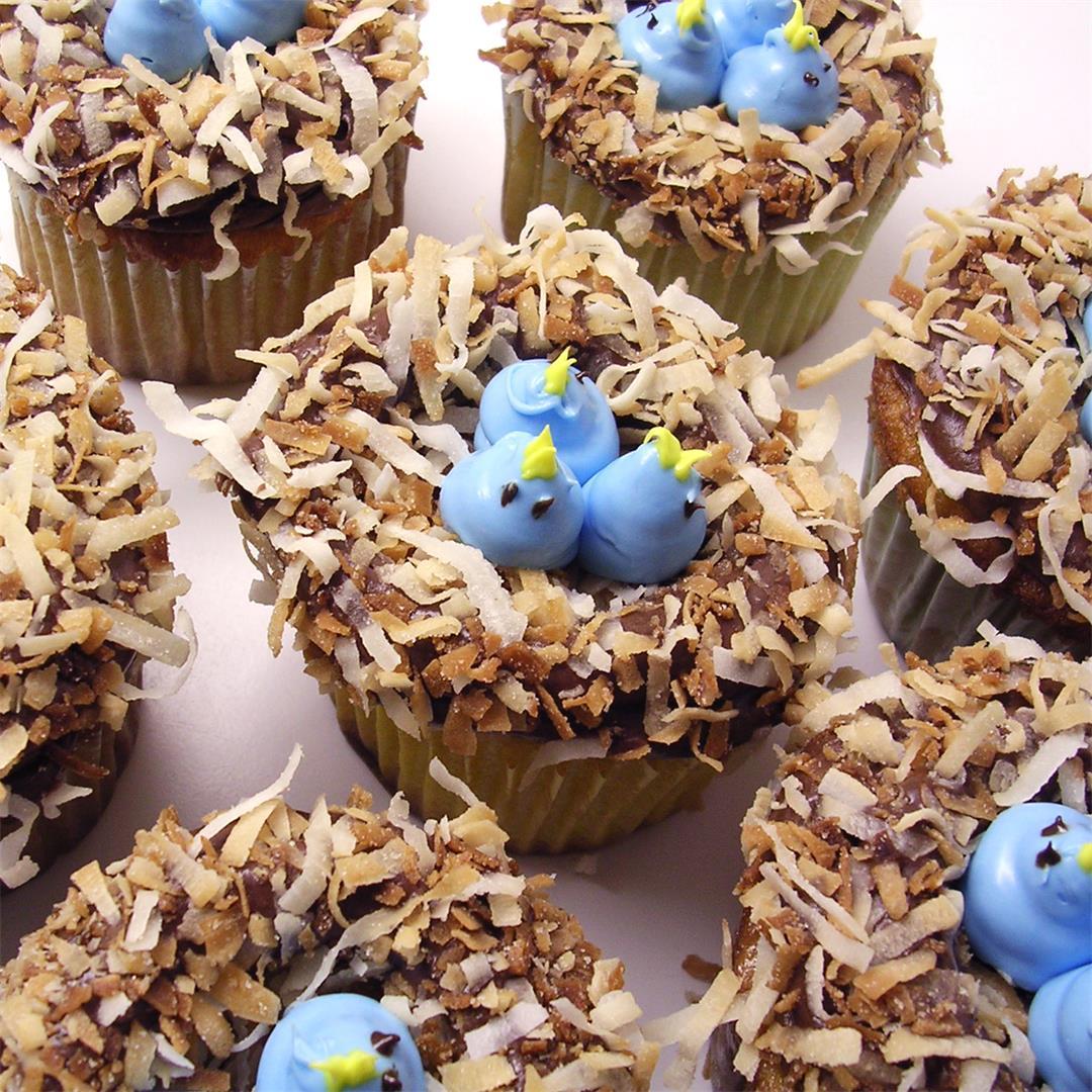 Baby Bluebird Cupcakes