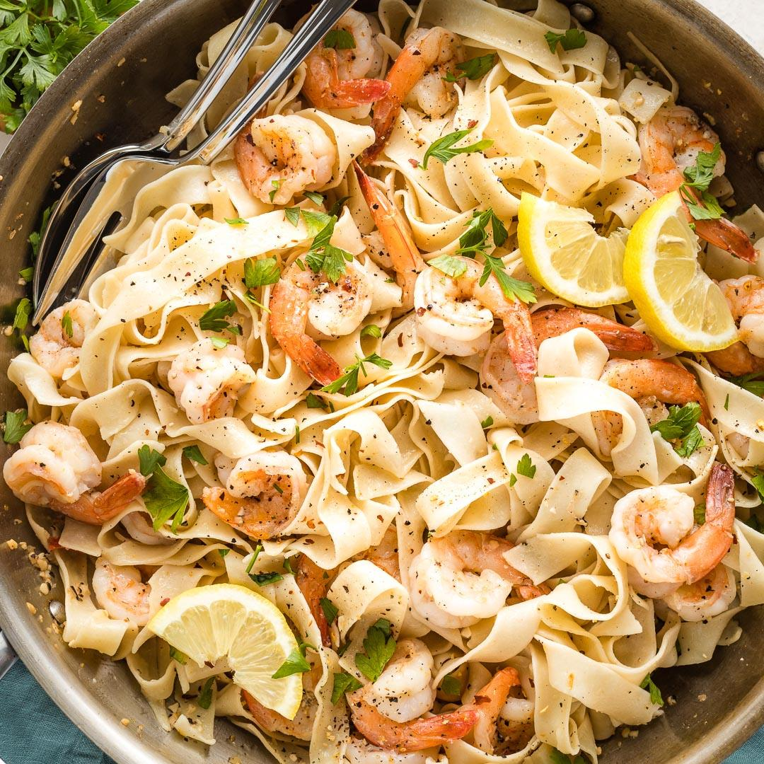 Lemon Pepper Shrimp Pappardelle