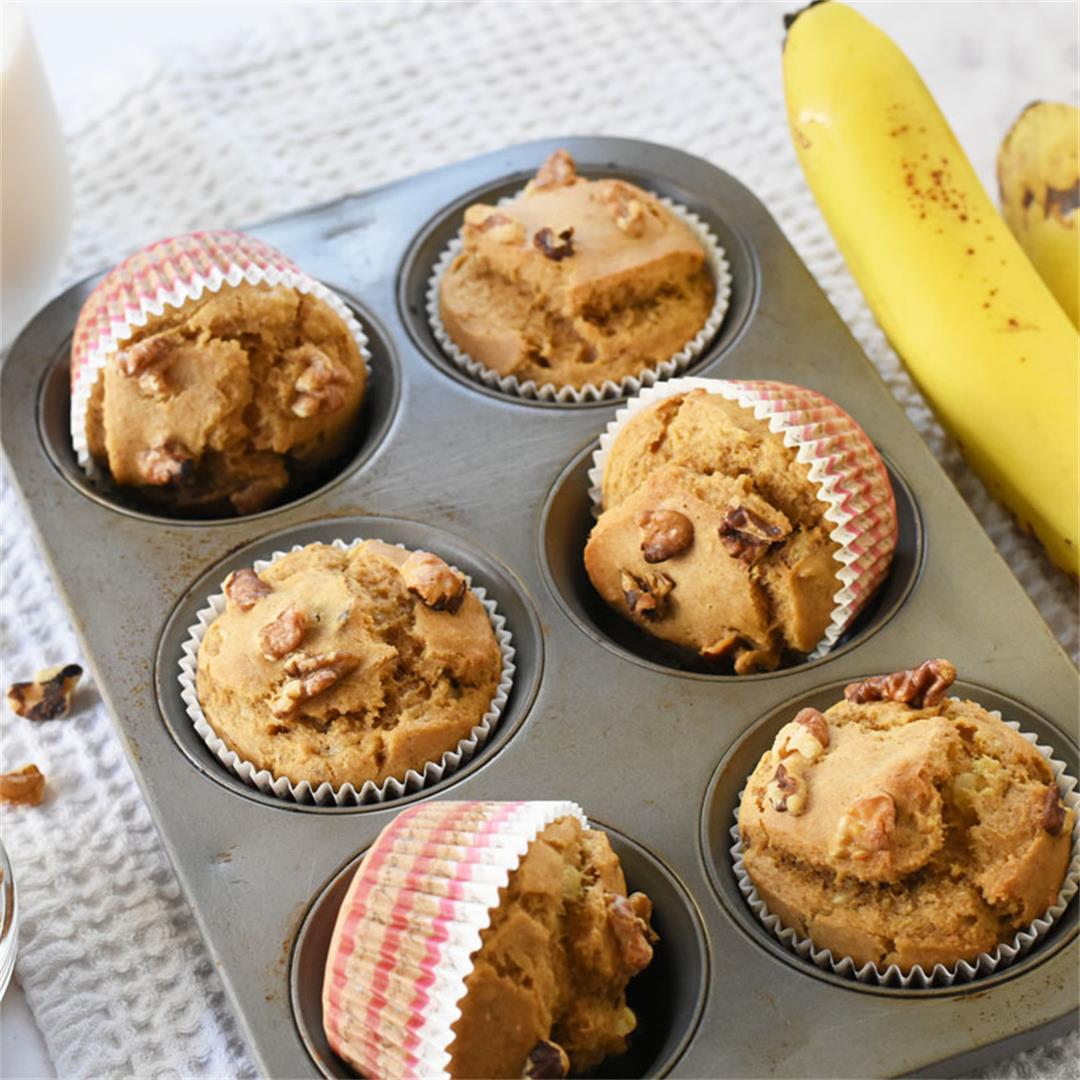 Vegan Banana Muffins Recipe