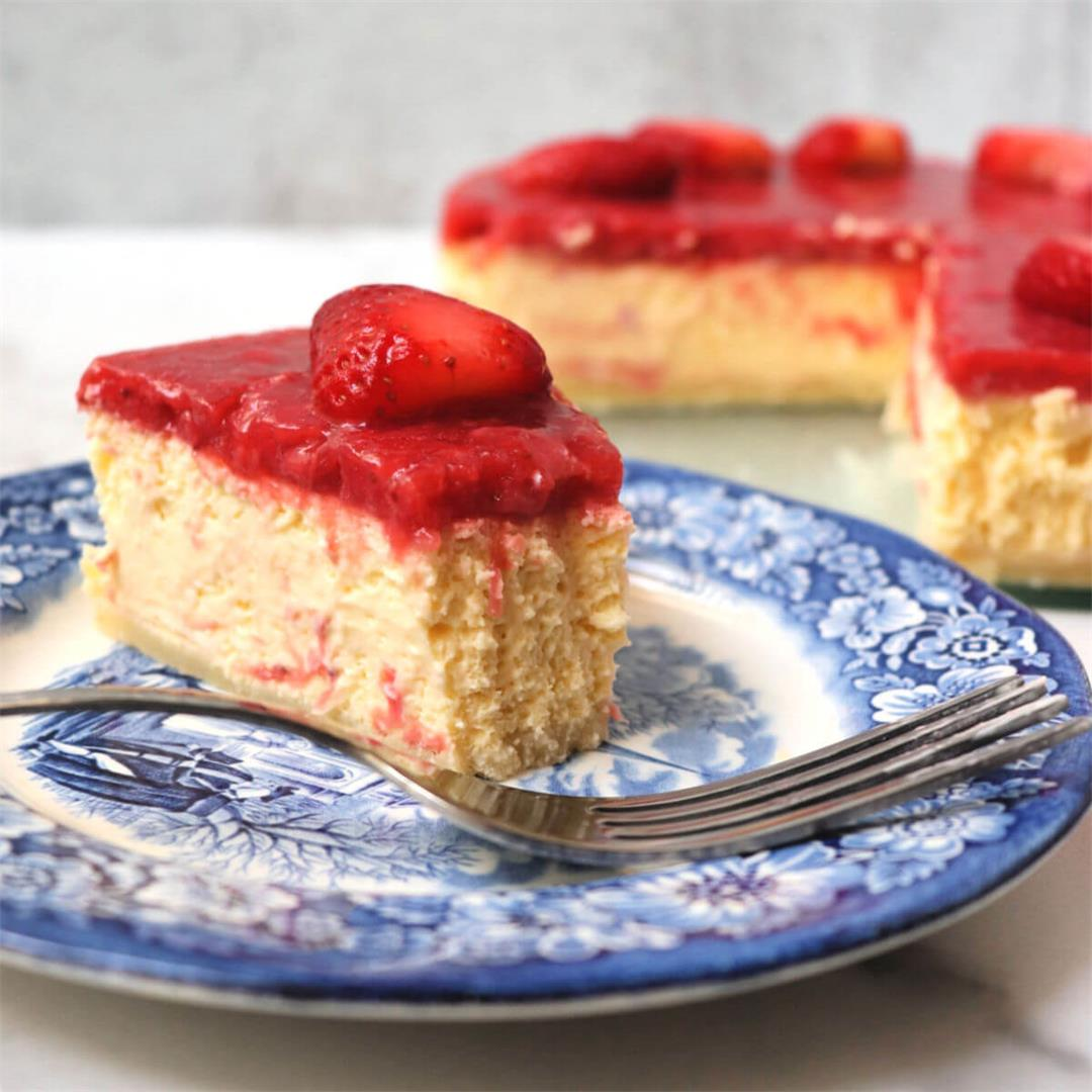 Best Ever Creamy Keto Strawberry Cheesecake