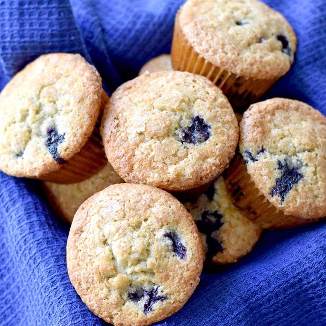 Gluten Free Banana Blueberry Muffins