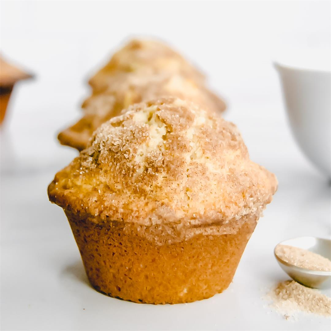 Bakery Style Cinnamon Sugar Muffins