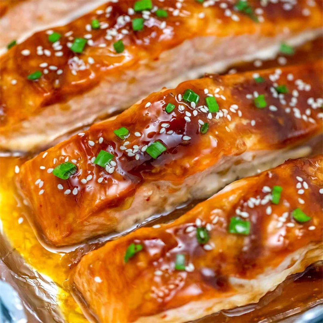 Teriyaki Salmon with Homemade Teriyaki Sauce