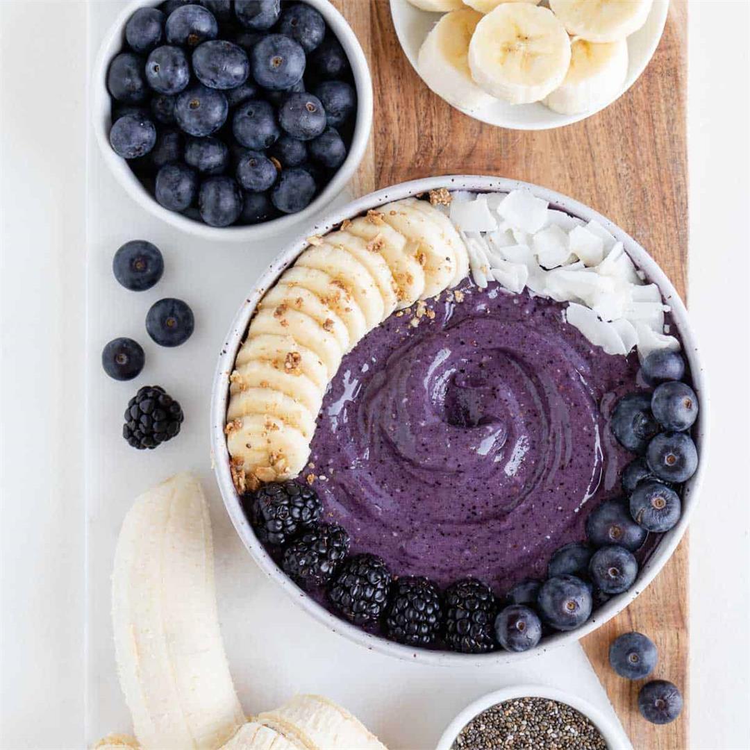 Blueberry Banana Smoothie Bowl