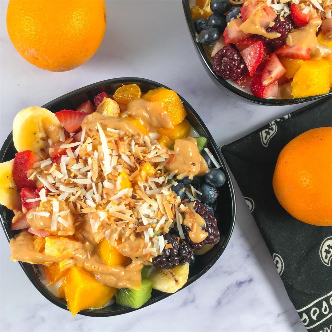 Banana Split Fruit and Yogurt Bowls