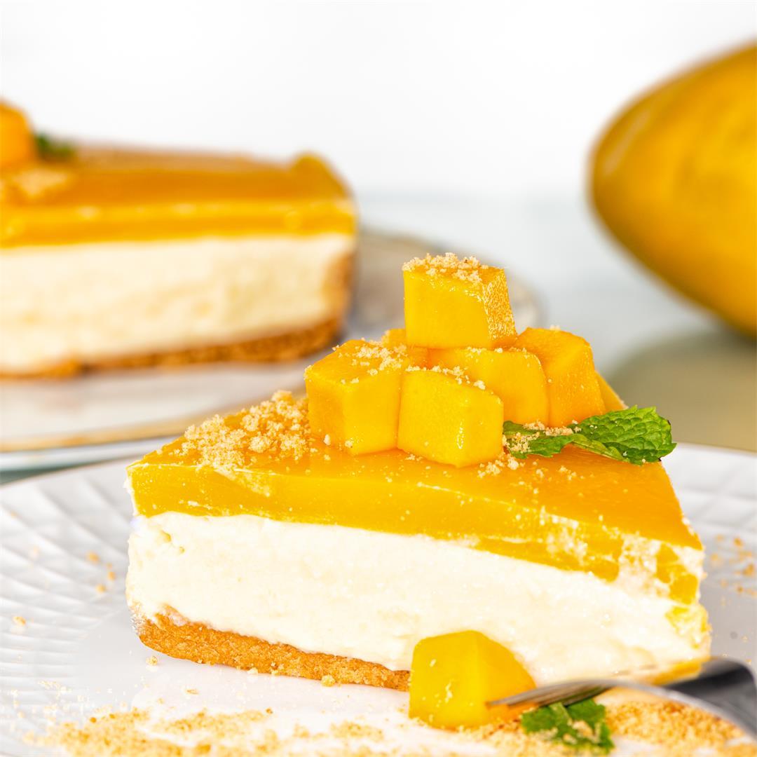 Mango Cheesecake/ No Bake Mango Cheesecake