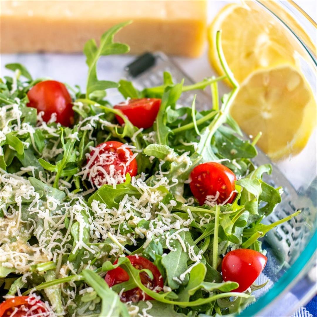 Arugula Salad (with Lemon Vinaigrette)