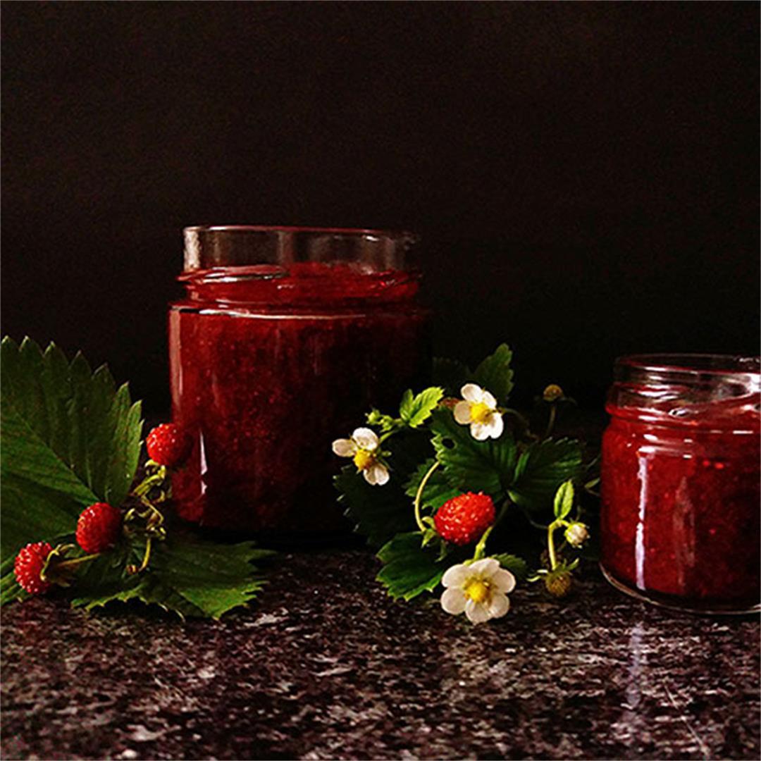 Wild Strawberry Jam without Pectin