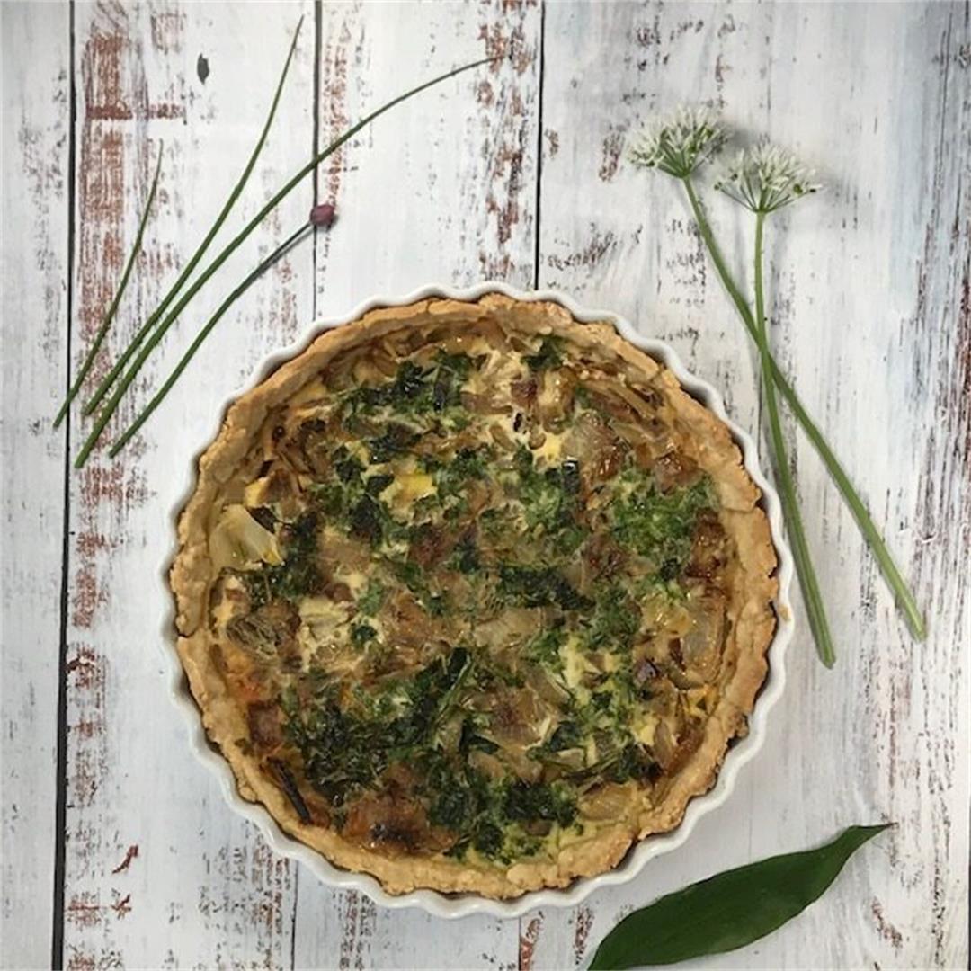 Onion Tart with Wild Garlic