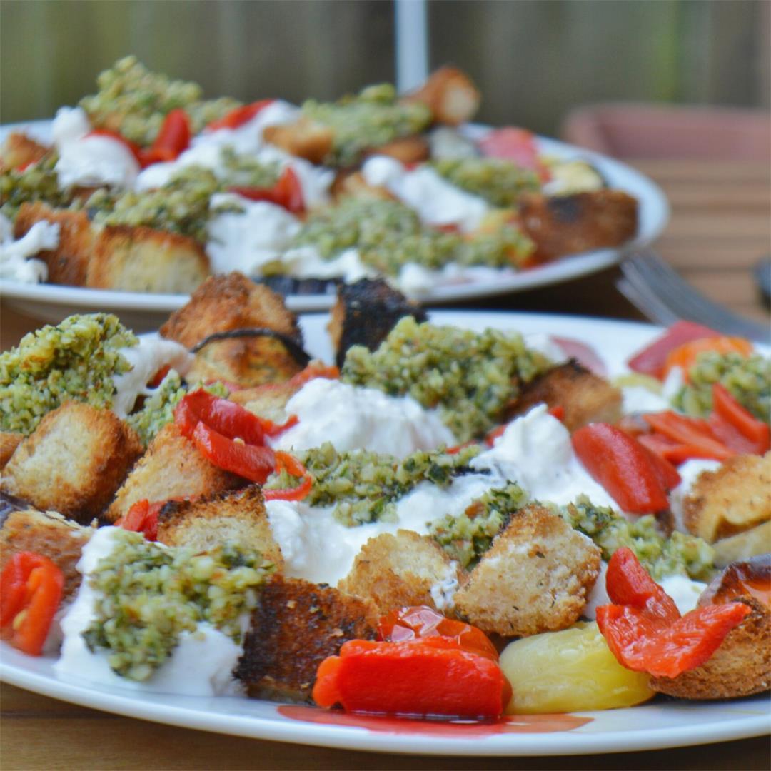 Panzanella Burrata Salad — Tasty Food for Busy Mums Seasonal Re
