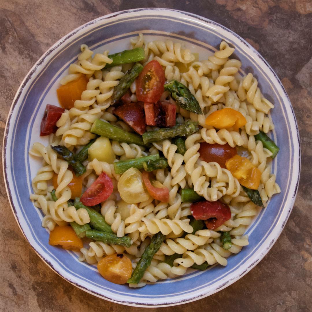 Springtime Asparagus-Tomato Pasta