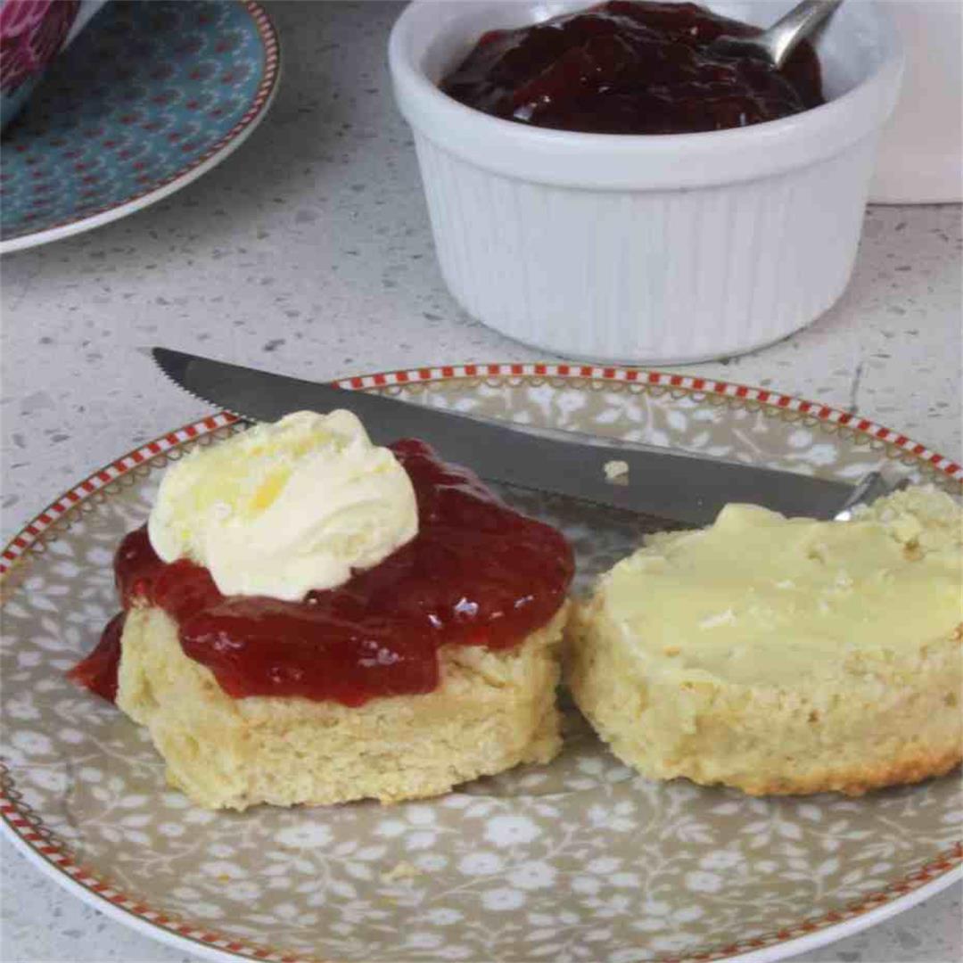 Classic British Scones for a cream tea
