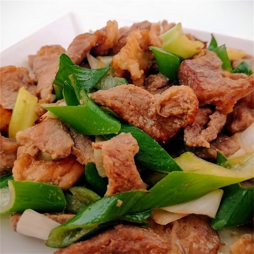 Leek and Pork Stir Fry